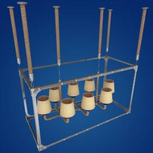chandelier lamps 3D model