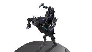 mechanical centaur character 3D model