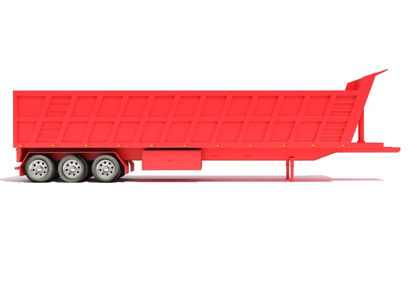 3D model tipper trailer