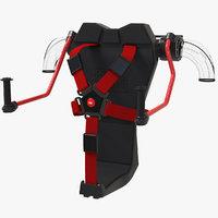 3D model jetpack