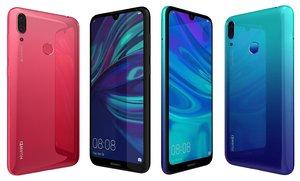 huawei y7 2019 colors 3D