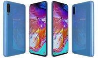 samsung galaxy a70 blue model