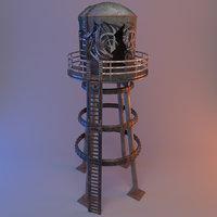 Broken water tower