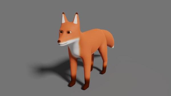 fox cartoon 3D model