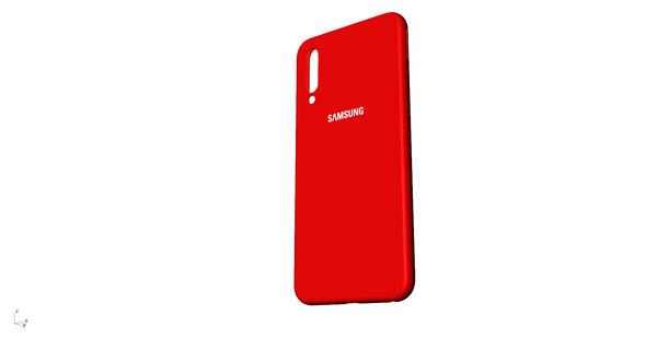 3D model samsung galaxy a50 red
