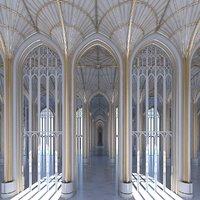 Interior de la catedral clásica 324
