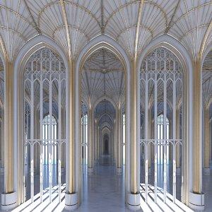 classic interior scene 3D model