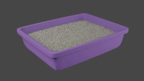 3D litter box cat model