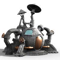 cartoon fantastic iron house