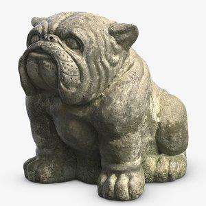 3D model bulldog sculpture