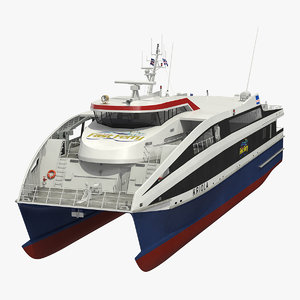 3D ferry fast ropax 4512 model