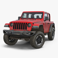 JEEP Wrangler JK Rubicon Sport Dirty Rigged 3D Model