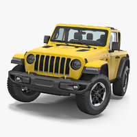 Jeep Wrangler Rubicon 4X4 Rigged 3D Model