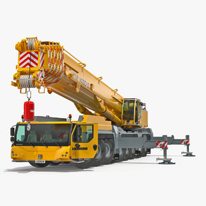 3D liebherr ltm 1450 mobile crane
