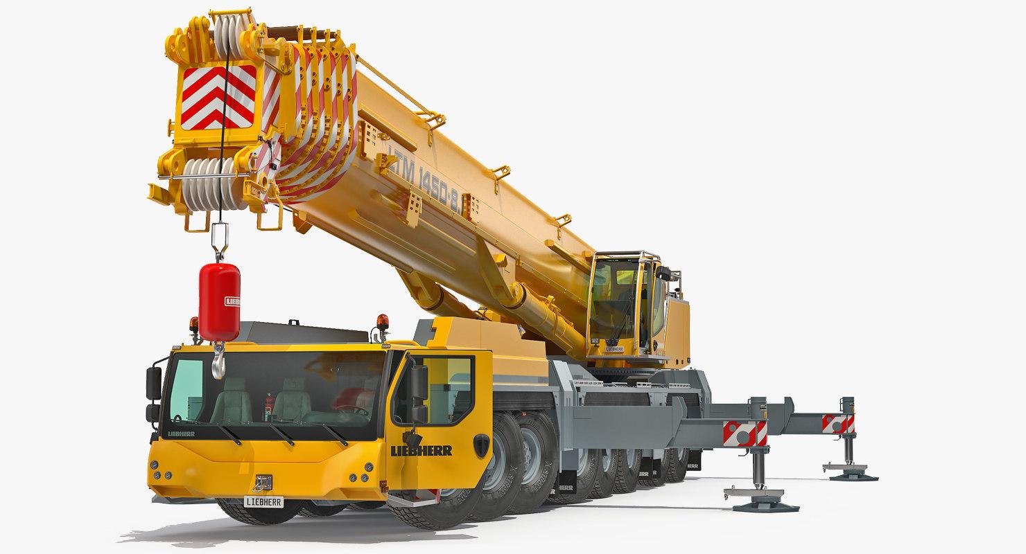 Liebherr LTM 1450 Mobile Crane Rigged