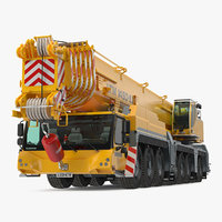 3D mobile crane liebherr model