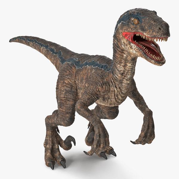 velociraptor dinosaur cretaceous 3D