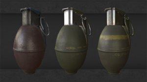 grenade old 3D model