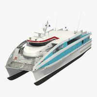 ferry catamaran 3D model