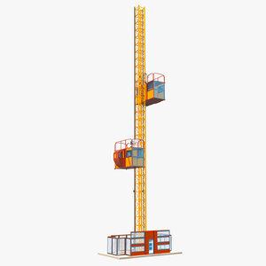 3D construction hoisting elevator