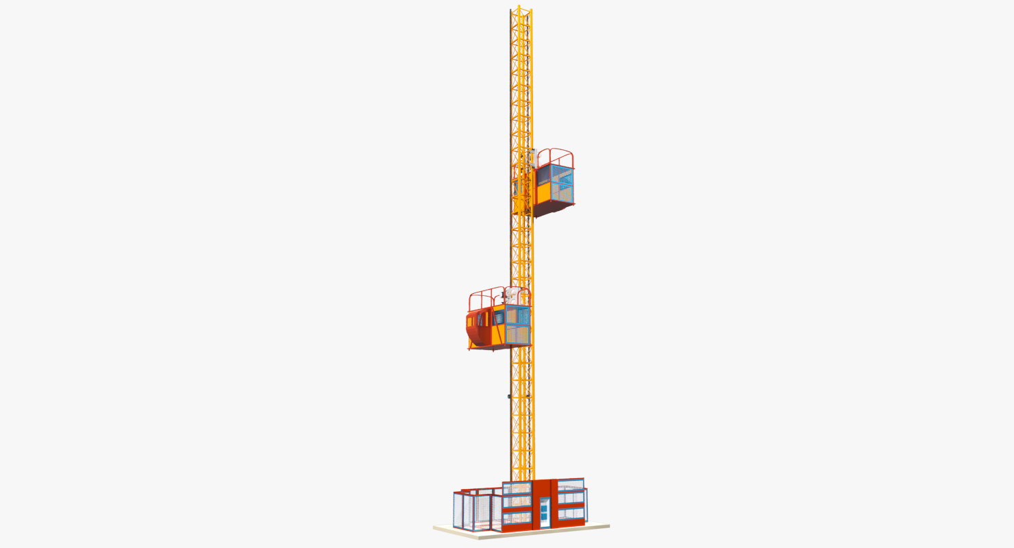 3D construction hoisting elevator