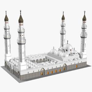 quba mosque saudi arabia 3D model