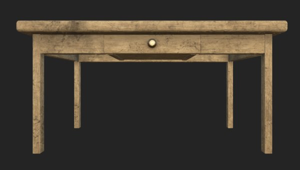 3D model table old