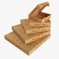 3D model pizza box
