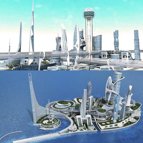 3D model future city 1 2