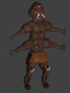 3D cyclops creature fantasy