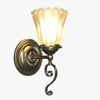 3D victorian wall light lamp