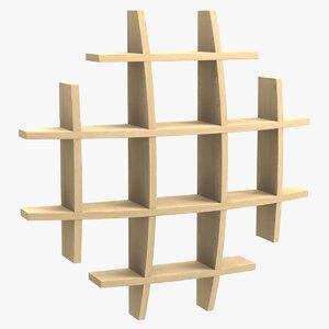shelf squared 3D model