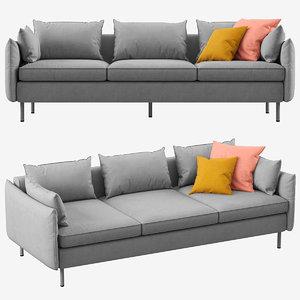 sofa vento 3 seater 3D model