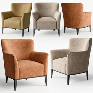 poliform gentleman armchair 3D model