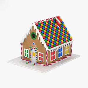 3D gingerbread house ginger