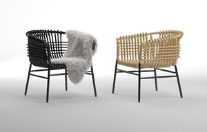lukis chair abie abdillah 3D
