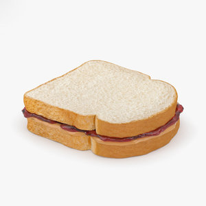 3D sandwich peanut butter