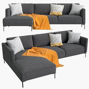3D sofa milo corner model