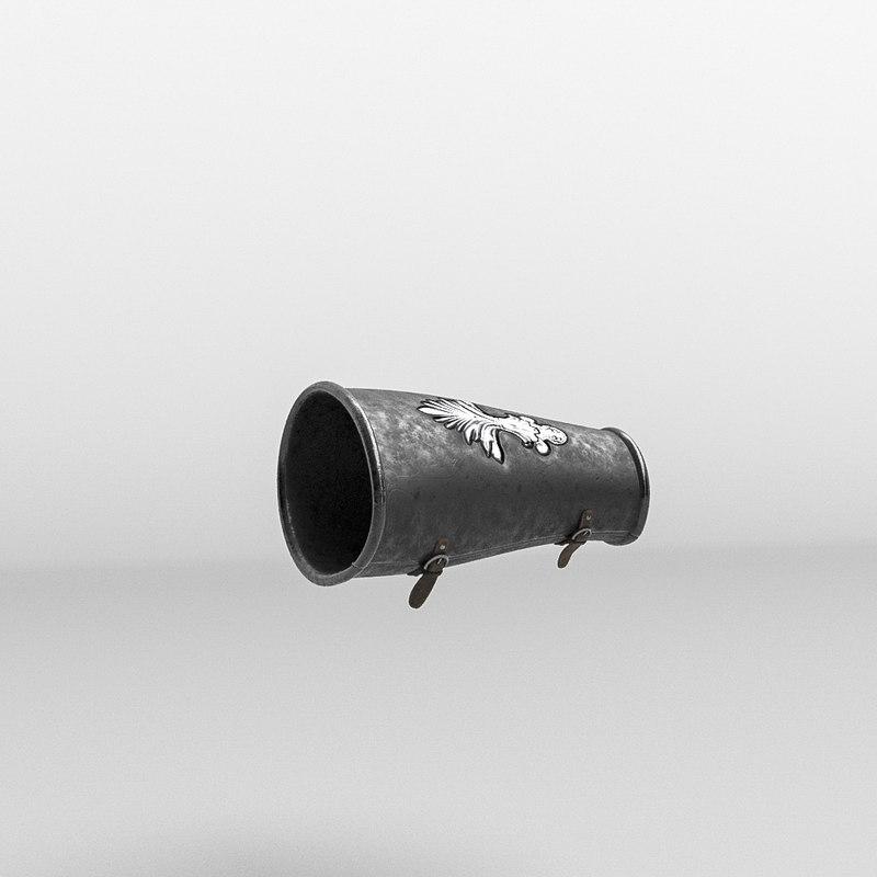 3D roman armor gauntlet