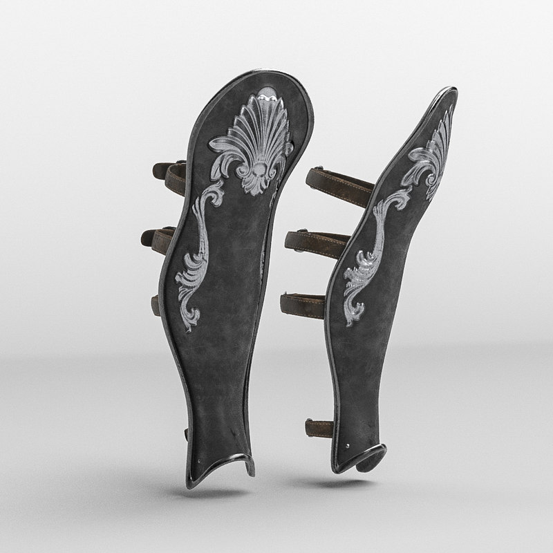 roman armor leg greave model