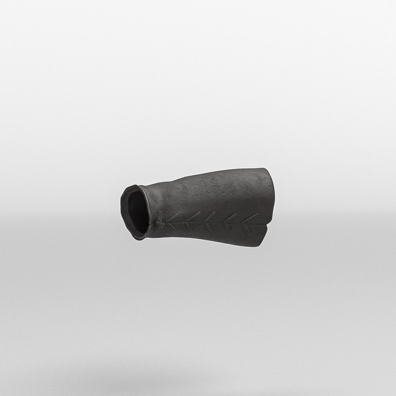 roman armor leather bracelet 3D model