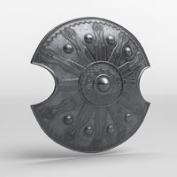 Roman Armor Decorated Battle Shield