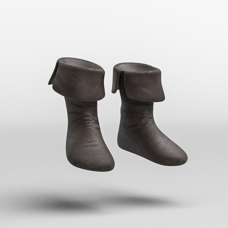 roman armor warrior boots 3D