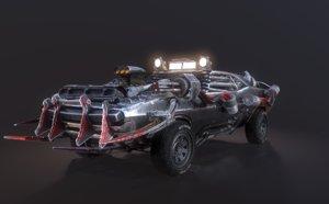 3D apocalyptic car model
