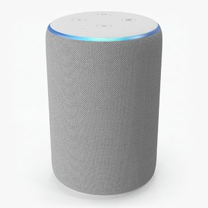 amazon echo 2rd generation 3D model