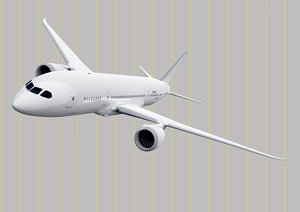 3D boeing-787 dreamliner aircraft