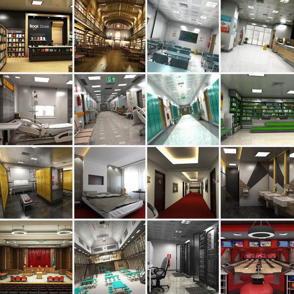 mega interior 16 1 3D model