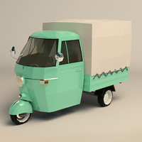 Low Poly Three Wheeled Truck 02