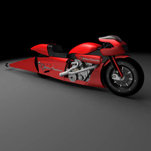 pro stock motorcycle 3D model