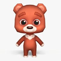 Cartoon Bear - Mobile game model